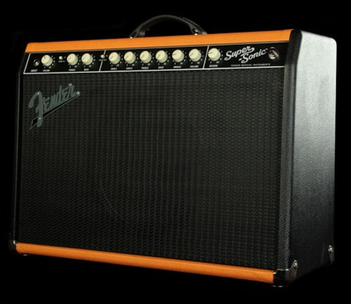 Fender FSR Limited Edition SuperSonic 22 Watt Combo Amplifier Amp  Black/Orange > Amps & Preamps | The Music Zoo
