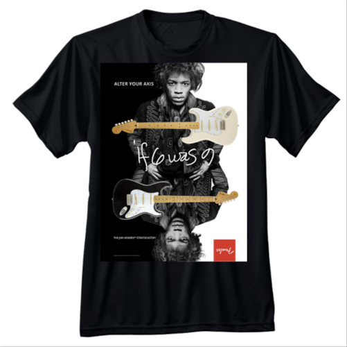 Fender Jimi Hendrix Collection Alter Your Axis T-Shirt, L Black, Brand New