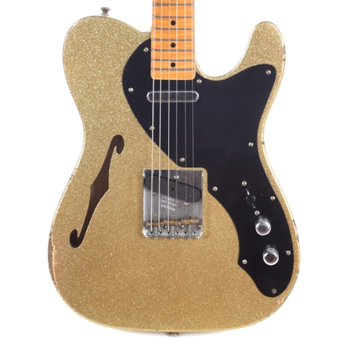 Fender Custom Shop Limited Edition Thinline Loaded Nocaster Relic Aged Gold Sparkle (Serial #R97998) USED