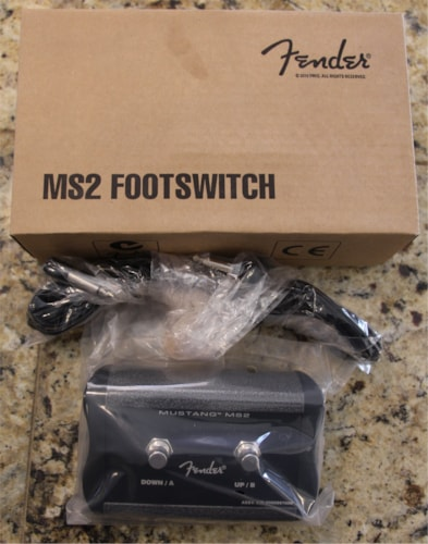 Fender  MS2 Mustang Amp 2-Button Footswitch Black & Grey, Brand New