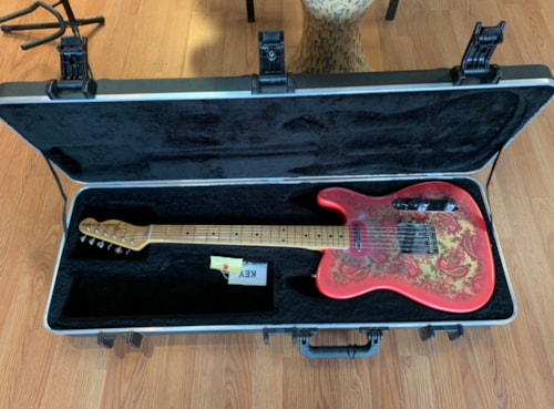 Fender Pink Paisley Telecaster 1994ish deluxe HC EC+ Made in Japan