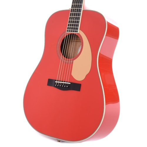 Fender PM-1E Limited Edition Paramount Series Dreadnought Fiesta Red B-Stock