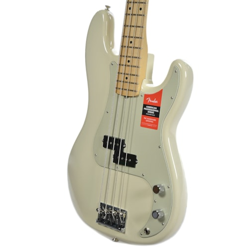 Fender American Pro Precision Bass MN Olympic White USED