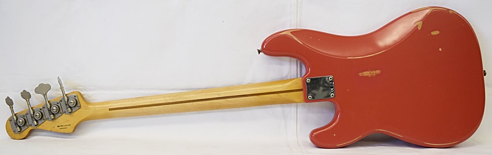 Fender Roadworn 50's Precision Bass Fiesta Red, Excellent, Hard, $749.99