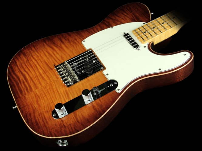 Fender Select Telecaster Electric Guitar Flame Maple Top Violin Burst Brand New, $2,149.99