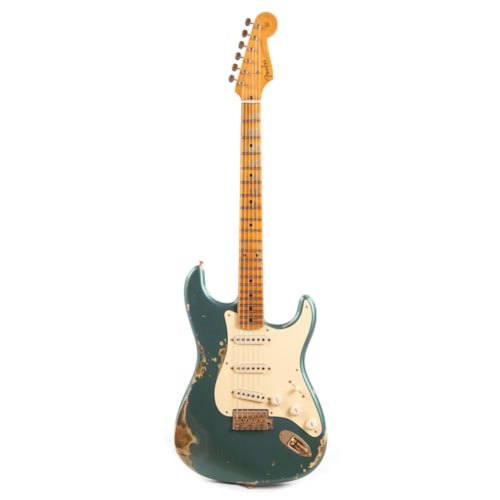 """Fender Custom Shop 1957 Stratocaster """"Chicago Special"""" Heavy Relic Aged Sherwood Green Metallic w/Gold Hardware (Serial #R100039)"""