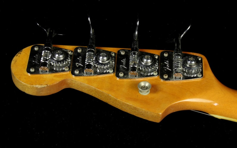 Fender Used 1966 Fender Jazz Bass Electric Bass Refinished White Refinished White, Excellent, $3,499.00