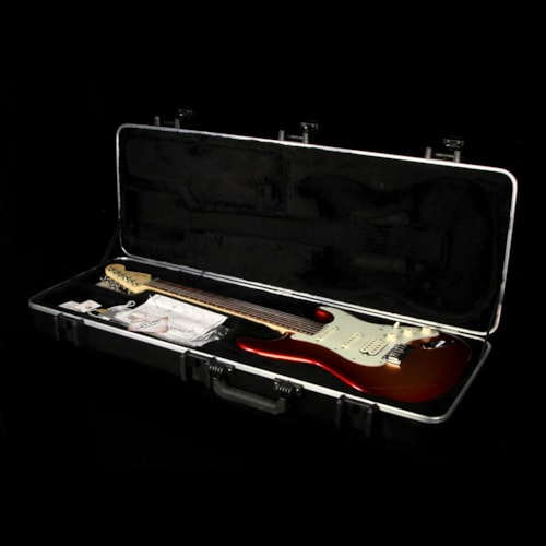 2012 Fender Used 2012 Fender American Deluxe Stratocaster Strat Electric Guitar Sunset Metallic