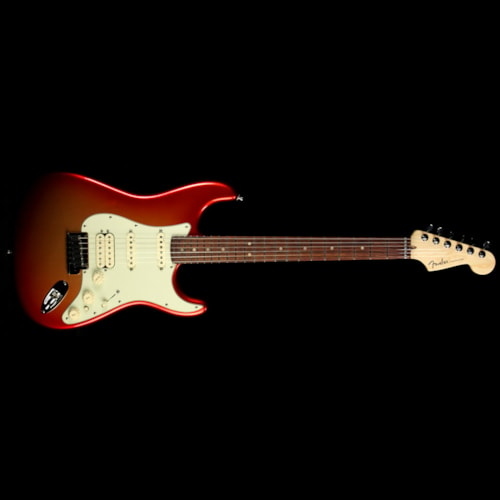 Fender Used 2012 Fender American Deluxe Stratocaster Strat Electric Guitar Sunset Metallic Sunset Metallic, Excellent, $1,299.00