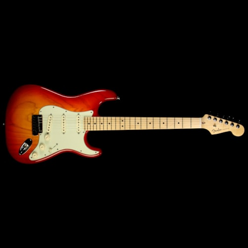 2013 Fender Used 2013 Fender American Deluxe Ash Stratocaster Strat Electric Guitar Aged Cherry Burst