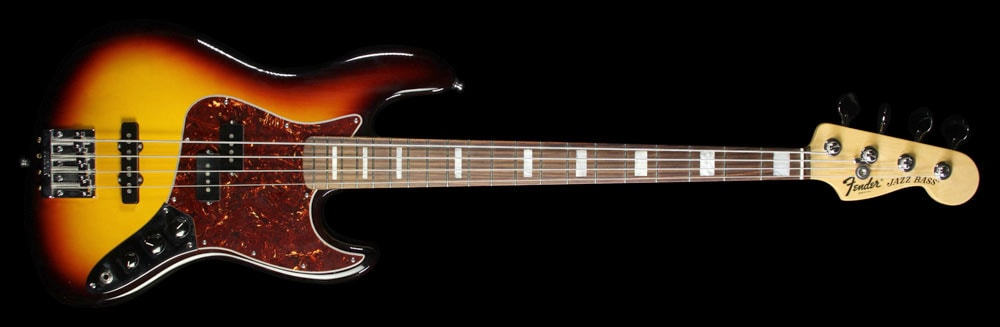 Fender Used Fender American Vintage Hot Rod '70s Jazz Bass Electric Bass Guitar 3TS Three-Tone Sunburst, Excellent, $1,439.00