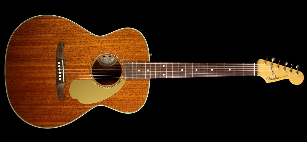 Fender Used Fender Newporter USA Selected Limited All-Mahogany Acoustic-Electric Guitar Natural, Excellent, $1,249.00