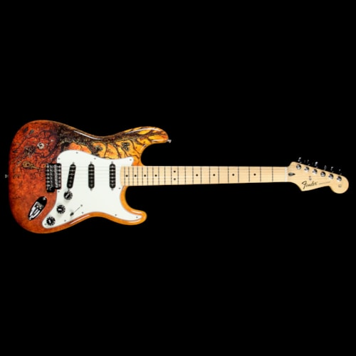 Fender Used Fender Special Edition David Lozeau Art Stratocaster Electric Guitar Tree Of Life Excellent, $749.00