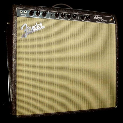 Fender Used Fender Vibro-King Limited Edition Combo Electric Guitar Amplifier Tooled Tolex Excellent, $2,495.00