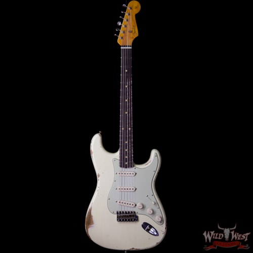2019 Fender Custom Shop 1961 Stratocaster Heavy Relic AAA Rosewood Fingerboard Vintage White Vintage White