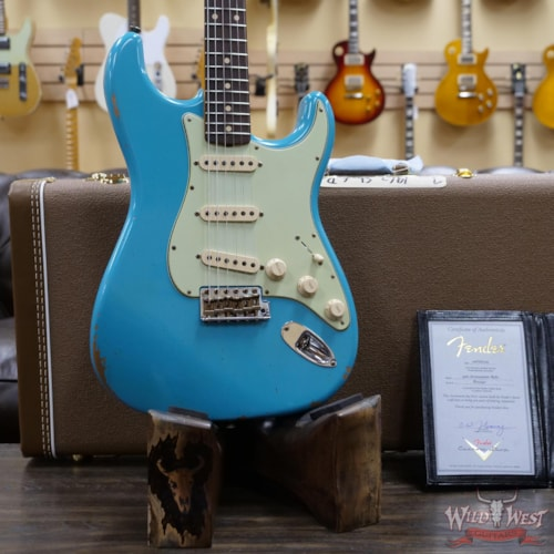 2020 Fender Custom Shop 1962 Stratocaster Relic AAA Rosewood Board Taos Turquoise