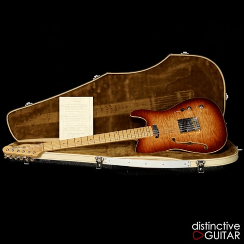 FIBENARE Roadmaster '56 Thinline Tele Cherry Burst Quilt, Brand New, Original Hard