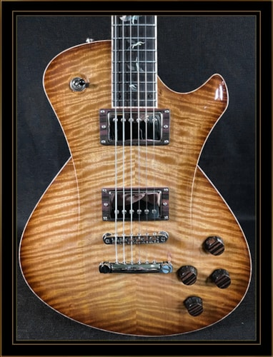 Frank Hartung Embrace Classic in Amber Tigerburst with Flying Dragon Inlays