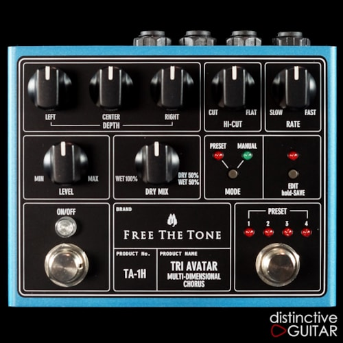 Free The Tone Tri Avatar TA-1H Chorus Blue, Brand New