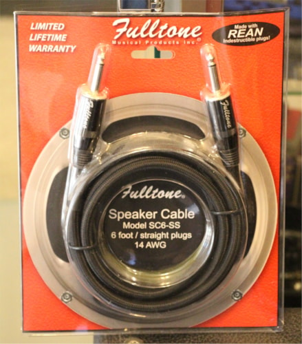 Fulltone SC6-SS 6' foot Speaker Cable  Black, Brand New