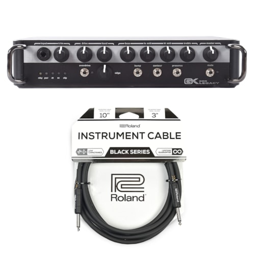 Gallien-Krueger Legacy 800 800W Ultra Light Bass Head Cable Bundle