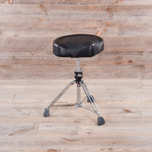 Gibraltar 96082T 2 Tone Motorcycle Style Drum Throne (All Black) USED