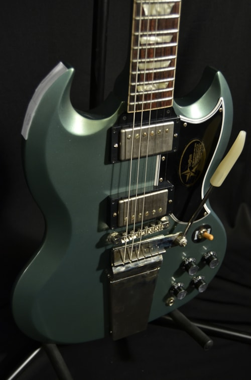 gibson custom shop lp sg relic turquoise green guitars electric solid body guitar showcase. Black Bedroom Furniture Sets. Home Design Ideas