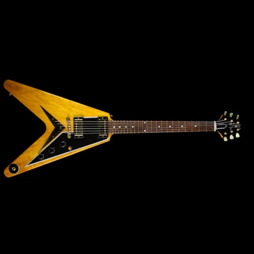 Gibson Custom Shop Used 2008 Gibson Custom Shop 50th Anniversary 1958 Flying V Korina Electric Guitar Natural Natural, Excellent, $7,499.00