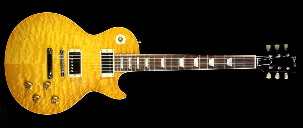 Gibson Custom Shop Used 2010 Gibson Custom Shop 1959 Les Paul Reissue Quilt Top Electric Guitar Lemonburst Lemonburst, Excellent, $4,999.00
