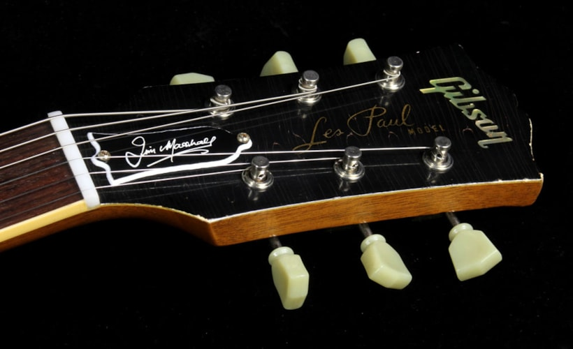 Gibson Custom Shop Used 2012 Gibson Custom Shop 50th Anniversary of Marshall Les Paul Electric Guitar Murphy Aged Goldtop Goldtop, Excellent, $7,999.00