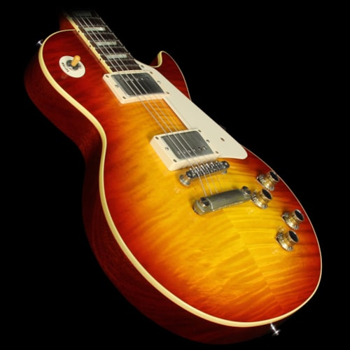 Gibson Custom Shop Used 2014 Gibson Custom Shop 10th Anniversary Benchmark '60 Les Paul Chambered Reissue Electric Guitar Washed Cherry Washed Cherry, Excellent, $4,699.00