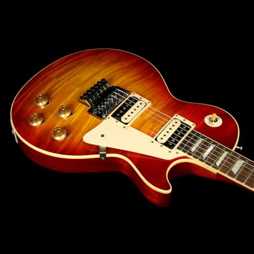 2016 Gibson Custom Shop Used 2016 Gibson Custom Shop Standard Historic ContouR8 1958 Les Paul Reissue Electric Guitar Washed Cherry with Floyd Rose