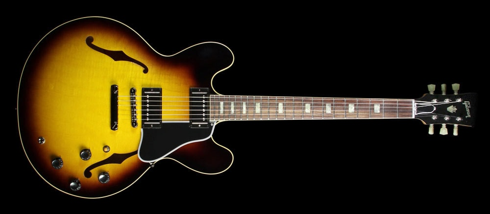 Gibson Custom Shop Used Gibson Custom Shop '63 ES-335 Block Historic Reissue Electric Guitar Vintage Sunburst Vintage Sunburst, Excellent, $4,299.00