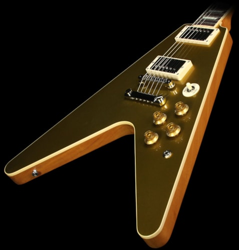 Gibson Custom Shop Used Gibson Custom Shop Limited Edition Goldtop Flying V Standard Electric Guitar Goldtop, Excellent, $2,799.00