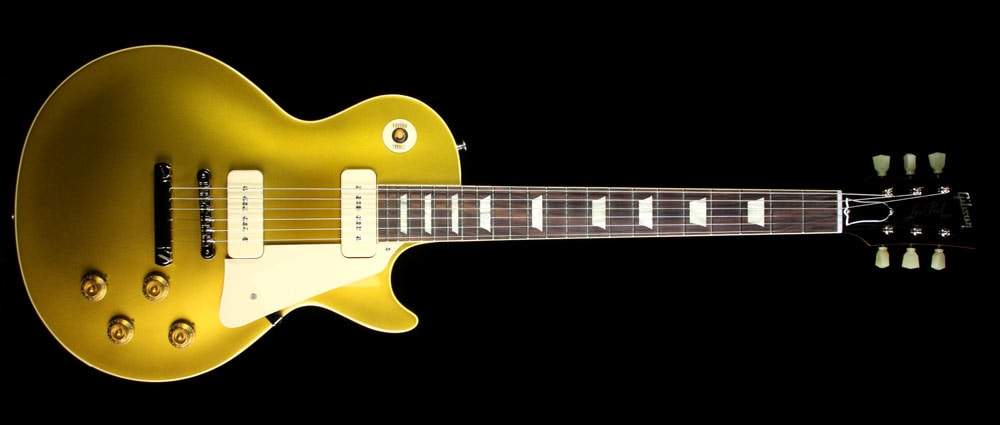 Gibson Custom Shop Used Gibson Custom Shop '56 Les Paul Chambered Reissue Electric Guitar Antique Gold Antique Gold, Excellent, $3,699.00