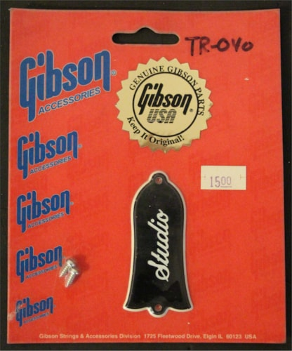 Gibson TR-040 Les Paul Studio Truss Rod Cover Black, Brand New