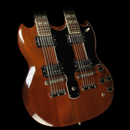 1980 Gibson Used 1980 Gibson EDS-1275 Double Neck Electric Guitar Walnut