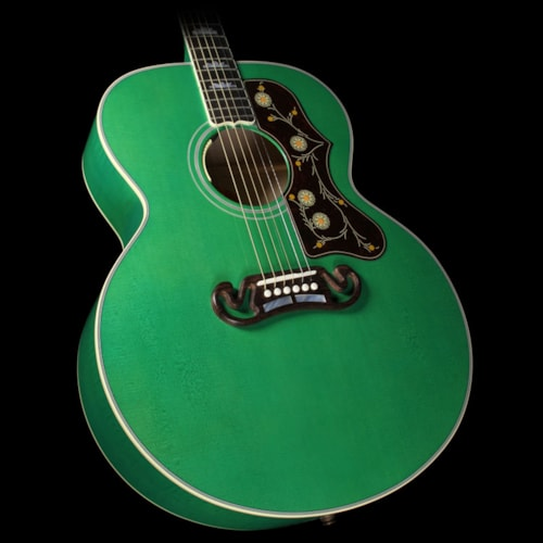 Gibson Used Gibson Montana Sj 200 Acoustic Electric Guitar Sea Green