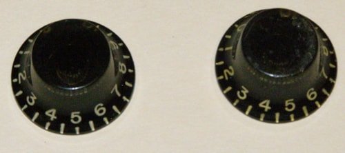 Gibson vintage Knobs  Pair Black 1955 - 1960 TV model Les Paul Junior Black, Excellent