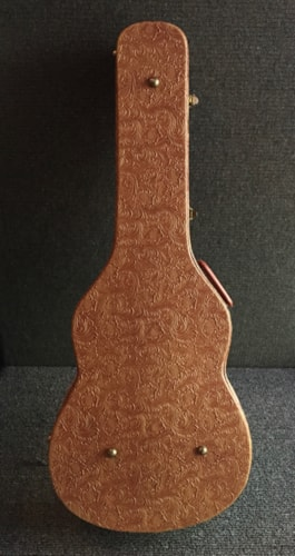 ~1969 Gibson Western Tooled Case Textured Cow Interior