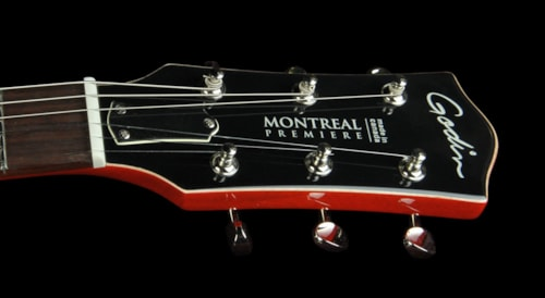 Godin Montreal Premiere Electric Guitar Canadian Wild Cherry Trans Red Brand New, $1,695.00