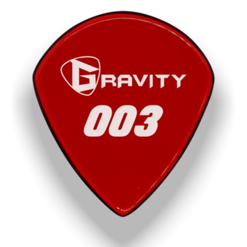 Gravity Picks 003 Jazz III XL Pick, 1.5mm, Red