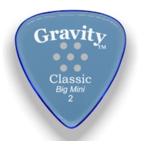 Gravity Picks Classic Big Mini Multi-Hole Polished Pick, 2mm, Blue