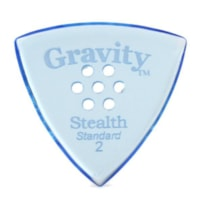 Gravity Picks Stealth Standard Polished Multi-Hole Pick, 2mm, Blue