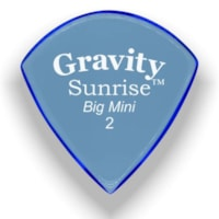 Gravity Picks Sunrise Big Mini Polished Pick, 2mm, Blue