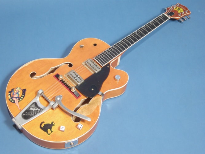 Gretsch Custom SHop 6120 Brian Setzer Tribute Western Orange, Mint, Original Hard, $11,500.00