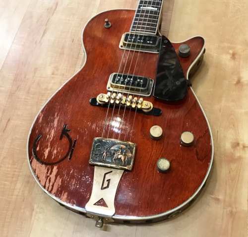 1955 Gretsch G6130 Round Up Western Orange > Guitars Electric Solid Body |  Andy Babiuk's Fab Gear