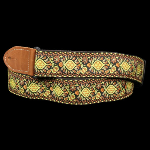 Gretsch Yellow/Orange Jaquard Weave Guitar Strap Brand New $21.95