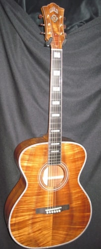 Guild® GSR 60th Anniversary  Natural AAAAA Koa, Brand New, Original Hard