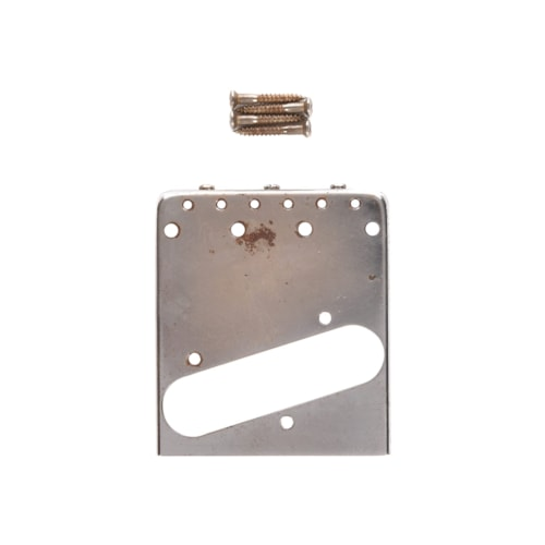 GuitarSlinger Tele Bridge Aged Brass Compensated Saddles